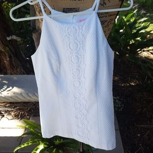 Lilly Pulitzer embroidered white top